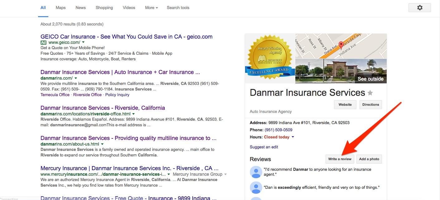 danmar google review image